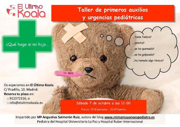 ¡Nueva edición del taller de primeros auxilios para padres!