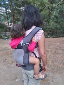 Bebé en mochila