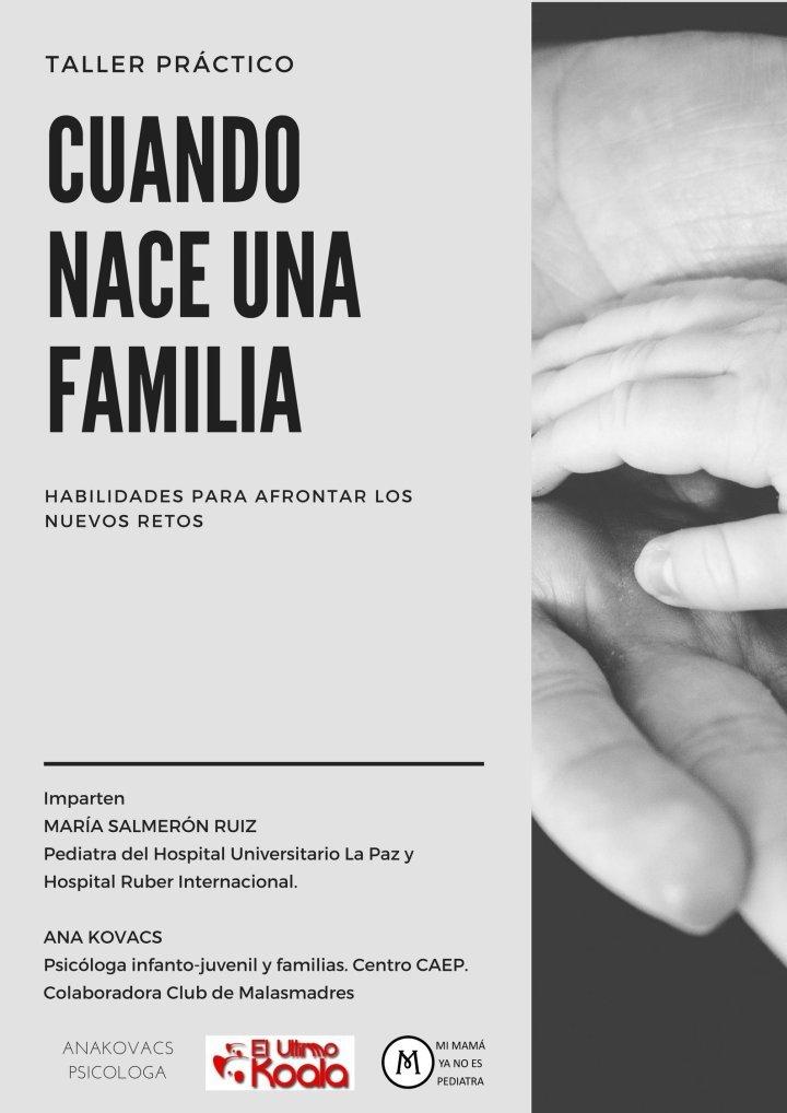 """Imagen-cartel_sinfecha Taller """"Cuando nace una familia: habilidades para afrontar los nuevos retos"""""""
